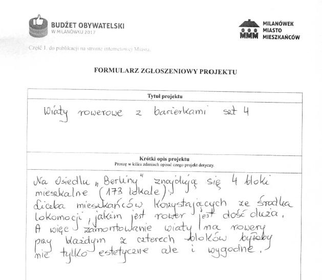 Budżet Obywatelski 2017 Milanówek Miasto Ogród